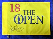 Rory Mcilroy Signed Undated The Open Golf Flag Autograph Aftal Rd Coa