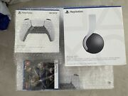 Sony Ps5 - White With Ps5 3d Headset+ Controller + Game