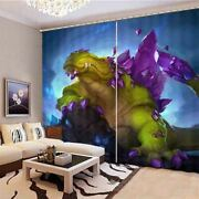 Great Amethyst Monster 3d Blockout Photo Print Curtain Fabric Curtains Window