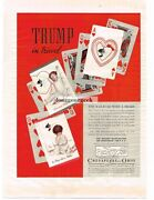 1937 Chesapeake And Ohip Railroad Playing Cards Chessie Cat Vintage Ad