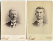 Two Handsome Young Men, Cabinet Card 2 Set. Galesburg, Ill.