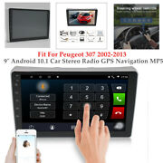 9 Android 10.1 Car 4-core Stereo Radio Gps Navi Mp5 Fit For Peugeot 307 02-13