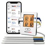 Thermopro Tp25 500ft Wireless Bluetooth Meat Thermometer With 4temperature Probe
