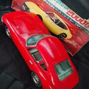 Nomura Toy Vehicle Tin Toyota 2000gt Red Size 47cm Extra-large With Box Used