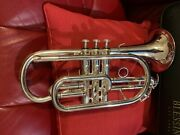 Blessing Bcr-1230s Silver Cornet Trumpet W/ New Bach Mouthpiece—mint
