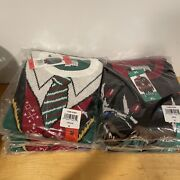 Nwt Lot Of 7 Ugly Holiday Sweater Men's Christmas Suit Vest Reindeer M L Xl