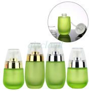 30ml 50ml Frosted Green Glass Lotion Pump Bottles Creme Gel Cosmetic Container