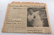 Original July 20, 1969 Newspaper Jimmy Connors Rare Tennis Article Photo