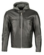 M Boss Motorcycle Apparel Bos11502 Menand039s Black Armored Leather Scooter Jacket
