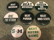 Msu Michigan State Football Button Pin Lot Vs Um Nd Collection Basketball Sparty