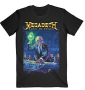 Megadeth Rust In Peace 30th Anniversary Official Tee T-shirt Mens Unisex