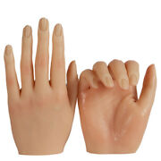 Silicone Practice Hand For Acrylic Nails Manicure Model Mail Artwork Realistic
