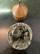 Israel Noahand039s Ark Sculpted State Medal By Eliezer Weishoff 666g Pure Silver
