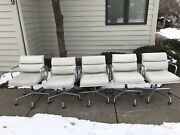 Herman Miller Eames Aluminum Group Management Chairs Leather 5 Available