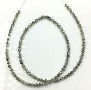 White Diamond Long Drilled 3x3.5 To 3.5x4 Mm Beads