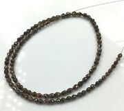 Brown Diamond Long Drilled 3x3.5 To 3.5x4 Mm Beads