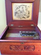 Antique Criterion Music Box And Stand