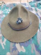 Wwii Usmc Marine Corps 1944 Campaign Drill Instructor Hat