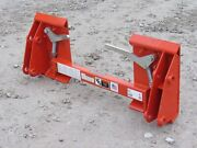 Kubota La852 Tractor Loader To Skid Steer Quick Attach Adapter Conversion 832915