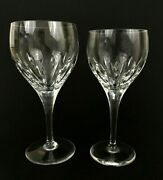 Atlantis Signed Sundial Pattern Cut Crystal Wine Glass Water Goblet Your Choice