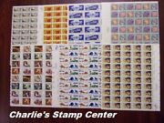 Crisp Old Lot Of 7 Us Full Sheets Of 10 Cent Stamps From Collection A. Mnh Og