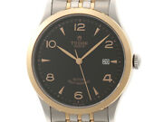 Tudor 1926 91651black Dial Pink Gold Stainless Steel Automatic Men Watch [b0110]