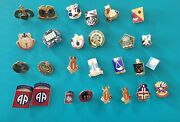 Nice Lot Of Us Army Military Crest Badges No 26 .