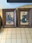 Antique Silhouettes Man And Women Original Frames 1844 Signed G Green