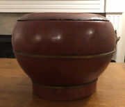 Antique Chinese Wooden Rice Barrel Or Bucket - 120 Years Old