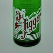 3247rated Vrvery Rare 1940s Green Glass Acl Jigger Girl Soda Bottle Verona Pa