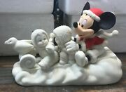 Disney Snowbabies Guest Collection A Magical Sleigh Ride With Mickey 2003