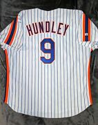 Todd Hundley Russell Athletic Authentic New York Mets 1992 Jersey 52 Saberhagen