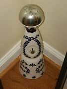 Clase Azul Reposado Empty Tequila Bottle 750 Ml Hand Painted Decanter