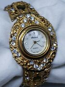 Rare Unique Vintage Costume Jewelry Womens Wristwatch By Windsor New Battery