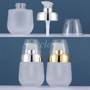 30ml Frosted Clear Glass Lotion Pump Bottles Creme Gel Cosmetic Container