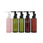 100ml Empty Glass Lotion Pump Bottles Cosmetic Cleansing Oil Shampoo Containers