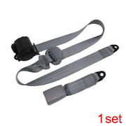 Auto Car Adjustable Retractable 3 Point Safety Seat Belt Straps Kits Accessories