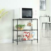 3 Layers Carbon Steel And Pp Storage Rack Shelving Wire Shelf Kitchen/office Unit