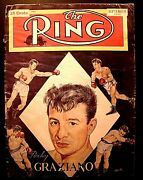 The Ring Vintage Boxing Magazine Sept 1949 Rocky Graziano Cover