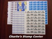 Crisp Old Lot Of 5 Us Full Sheets Of 18 Cent Stamps From A Collection. Mnh Og.