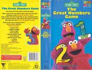 Sesame Street The Great Numbers Game Abc Video Pal Vhs
