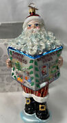 Rare Retired Nordstrom Exclusive Ornament Northpole News Hand Blown And Paint