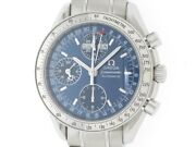 Omega Speedmaster Day-date 3523.80 Navy Dial Automatic Ss Menand039s Watch [b0112]