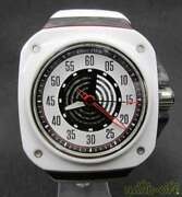 Used Gorilla Fby 2.0 Automatic Winding Mens Watch White Panel Silver Red