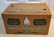 1957 Saratoga Mineral Waters Crate Waxed Cardboard Very Rare 24 15 Oz Bottles