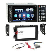Concept Dvd Usb Bluetooth Stereo Dash Kit Harness For 04-08 Chrysler Dodge Jeep