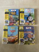Leap Frog For My First Leap Pad - Lot Of 4 Thomas, Cars, Bob And Jay Jay