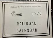 Vintage California Southern Railroad Museum Photo 1976 Calendar 14 Pages Spiral