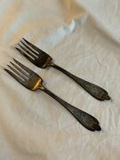 """1847 Rogers Bros Forks Xs Triple 6"""" Weight 56.6g Silverplated"""