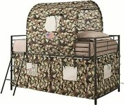Tent Loft Bed Army Green And Camouflage